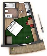 apartment 102 und 202